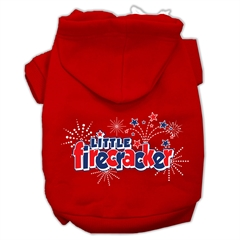 Mirage Pet Products Little Firecracker Screen Print Pet Hoodies Red Size S (10)