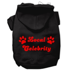 Mirage Pet Products Local Celebrity Screen Print Pet Hoodies Black Size Med (12)
