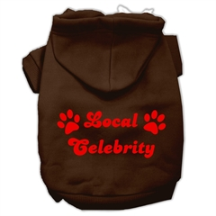 Mirage Pet Products Local Celebrity Screen Print Pet Hoodies Brown Size Med (12)