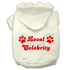 Mirage Pet Products Local Celebrity Screen Print Pet Hoodies Cream Size Lg (14)