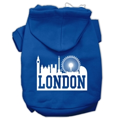 Mirage Pet Products London Skyline Screen Print Pet Hoodies Blue Size XXXL (20)
