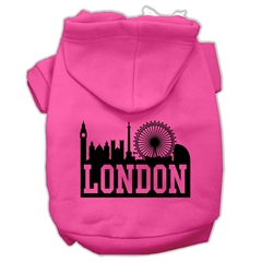 Mirage Pet Products London Skyline Screen Print Pet Hoodies Bright Pink Size XS (8)