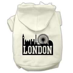 Mirage Pet Products London Skyline Screen Print Pet Hoodies Cream Size Sm (10)