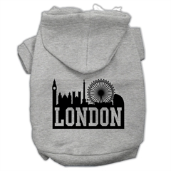 Mirage Pet Products London Skyline Screen Print Pet Hoodies Grey Size XS (8)