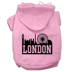 Mirage Pet Products London Skyline Screen Print Pet Hoodies Light Pink Size XS (8)