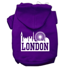 Mirage Pet Products London Skyline Screen Print Pet Hoodies Purple Size Lg (14)