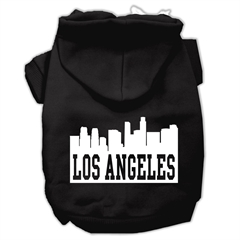 Mirage Pet Products Los Angeles Skyline Screen Print Pet Hoodies Black Size Lg (14)