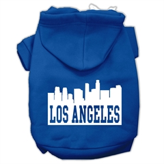 Mirage Pet Products Los Angeles Skyline Screen Print Pet Hoodies Blue Size XL (16)
