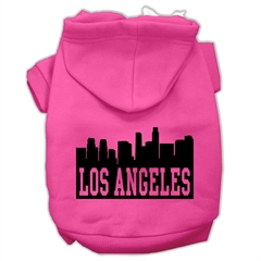 Mirage Pet Products Los Angeles Skyline Screen Print Pet Hoodies Bright Pink Size Lg (14)
