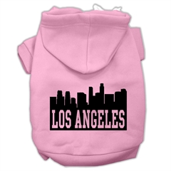Mirage Pet Products Los Angeles Skyline Screen Print Pet Hoodies Light Pink Size Med (12)