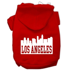 Mirage Pet Products Los Angeles Skyline Screen Print Pet Hoodies Red Size Lg (14)