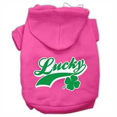 Mirage Pet Products Lucky Swoosh Screen Print Pet Hoodies Bright Pink Size XL (16)