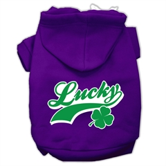 Mirage Pet Products Lucky Swoosh Screen Print Pet Hoodies Purple Size Lg (14)