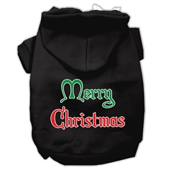 Mirage Pet Products Merry Christmas Screen Print Pet Hoodies Black Size XS (8)