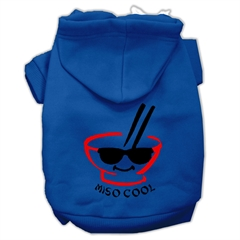 Mirage Pet Products Miso Cool Screen Print Pet Hoodies Blue Size Med (12)