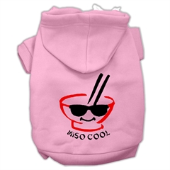 Mirage Pet Products Miso Cool Screen Print Pet Hoodies Pink Size Lg (14)