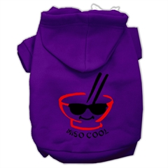 Mirage Pet Products Miso Cool Screen Print Pet Hoodies Purple Size Med (12)