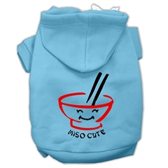 Mirage Pet Products Miso Cute Screen Print Pet Hoodies Baby Blue Size XS (8)