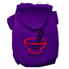 Mirage Pet Products Miso Cute Screen Print Pet Hoodies Purple Size Lg (14)
