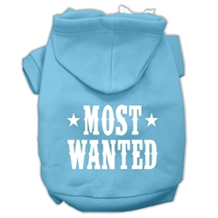 Mirage Pet Products Most Wanted Screen Print Pet Hoodies Baby Blue Size XS (8)
