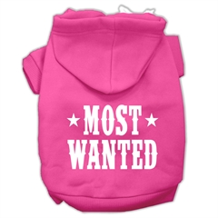 Mirage Pet Products Most Wanted Screen Print Pet Hoodies Bright Pink Size XS (8)