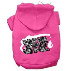 Mirage Pet Products My Kind of Gas Screen Print Pet Hoodies Bright Pink Size L (14)