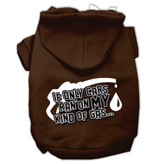 Mirage Pet Products My Kind of Gas Screen Print Pet Hoodies Brown L (14)