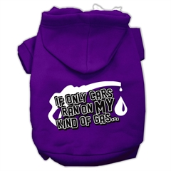 Mirage Pet Products My Kind of Gas Screen Print Pet Hoodies Purple Size XS (8)