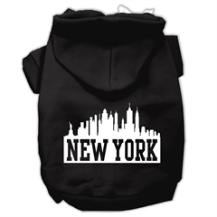 Mirage Pet Products New York Skyline Screen Print Pet Hoodies Black Size XS (8)