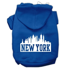 Mirage Pet Products New York Skyline Screen Print Pet Hoodies Blue Size Med (12)