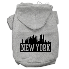 Mirage Pet Products New York Skyline Screen Print Pet Hoodies Grey Size Sm (10)