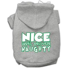 Mirage Pet Products Nice until proven Naughty Screen Print Pet Hoodie Grey XS (8)