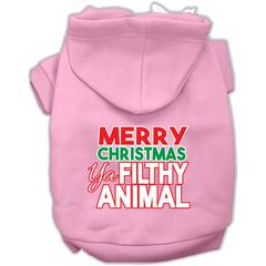 Mirage Pet Products Ya Filthy Animal Screen Print Pet Hoodie Light Pink XS (8)