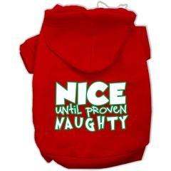 Mirage Pet Products Nice until proven Naughty Screen Print Pet Hoodie Red XS (8)