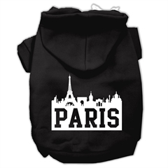Mirage Pet Products Paris Skyline Screen Print Pet Hoodies Black Size XXXL (20)