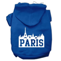 Mirage Pet Products Paris Skyline Screen Print Pet Hoodies Blue Size XXL (18)