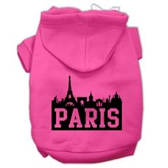 Mirage Pet Products Paris Skyline Screen Print Pet Hoodies Bright Pink Size Lg (14)