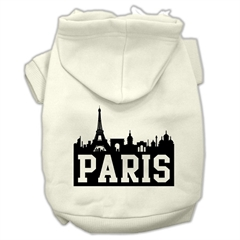 Mirage Pet Products Paris Skyline Screen Print Pet Hoodies Cream Size XL (16)