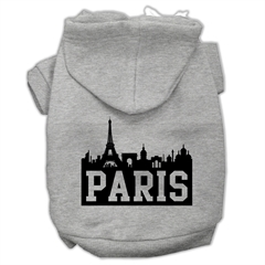 Mirage Pet Products Paris Skyline Screen Print Pet Hoodies Grey Size Med (12)