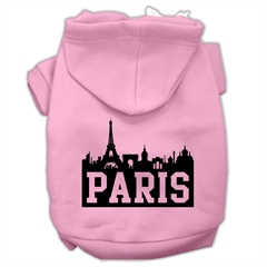 Mirage Pet Products Paris Skyline Screen Print Pet Hoodies Light Pink Size Sm (10)
