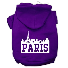 Mirage Pet Products Paris Skyline Screen Print Pet Hoodies Purple Size XS (8)