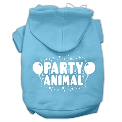 Mirage Pet Products Party Animal Screen Print Pet Hoodies Baby Blue Size XL (16)