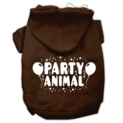 Mirage Pet Products Party Animal Screen Print Pet Hoodies Brown Size Sm (10)
