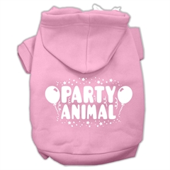 Mirage Pet Products Party Animal Screen Print Pet Hoodies Light Pink Size Sm (10)