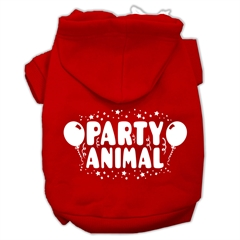 Mirage Pet Products Party Animal Screen Print Pet Hoodies Red Size XS (8)