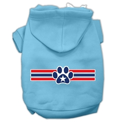 Mirage Pet Products Patriotic Star Paw Screen Print Pet Hoodies Baby Blue S (10)