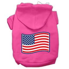 Mirage Pet Products Paws and Stripes Screen Print Pet Hoodies Bright Pink Size XXL (18)