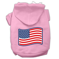 Mirage Pet Products Paws and Stripes Screen Print Pet Hoodies Light Pink Size XS (8)