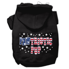 Mirage Pet Products Pawtriotic Pup Screen Print Pet Hoodies Black Size XXXL (20)