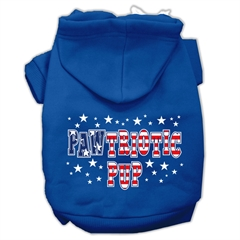 Mirage Pet Products Pawtriotic Pup Screen Print Pet Hoodies Blue Size Med (12)